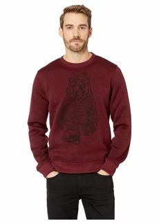 Lucky Brand Fleece Bear Crew Neck Sweatshirt
