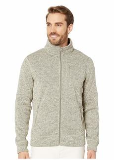 Lucky Brand Fleece Full Zip Mock Neck Sweatshirt