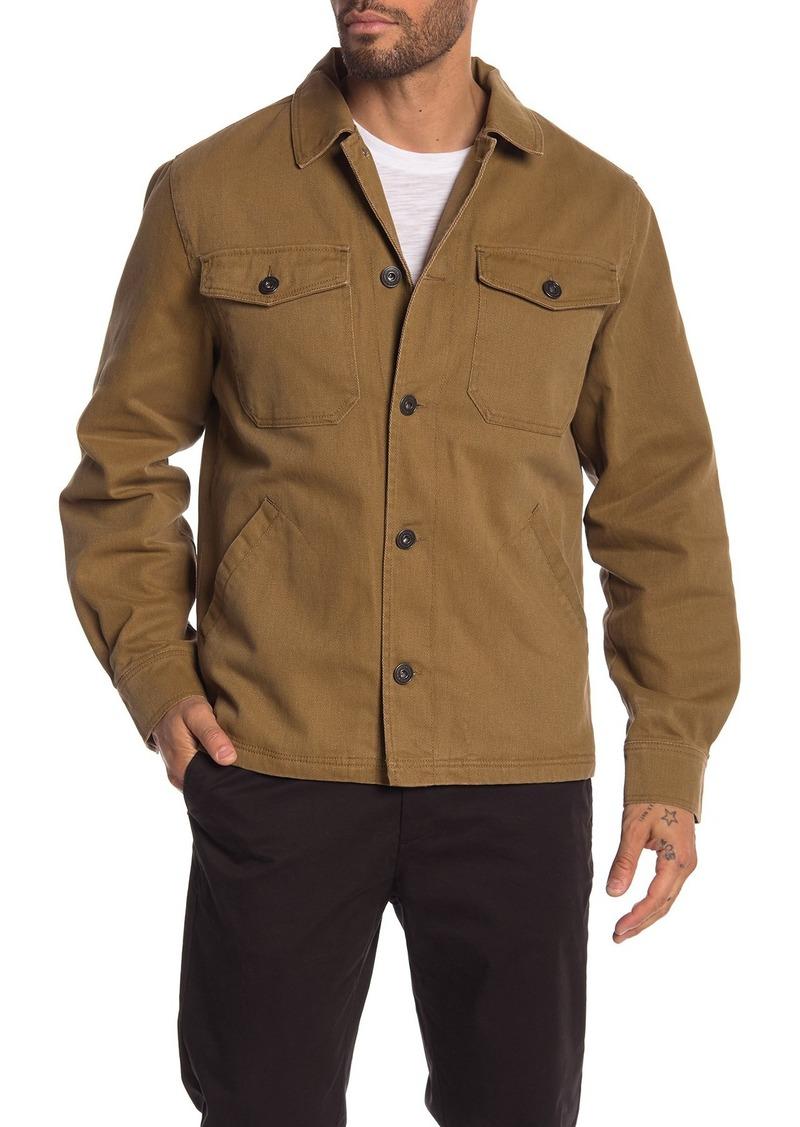 Lucky Brand Fleece Lined Twill Shirt Jacket