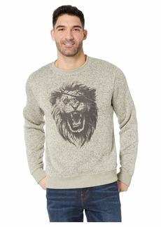 Lucky Brand Fleece Monster Crew Neck Sweatshirt