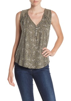 Lucky Brand Applique Henley Top