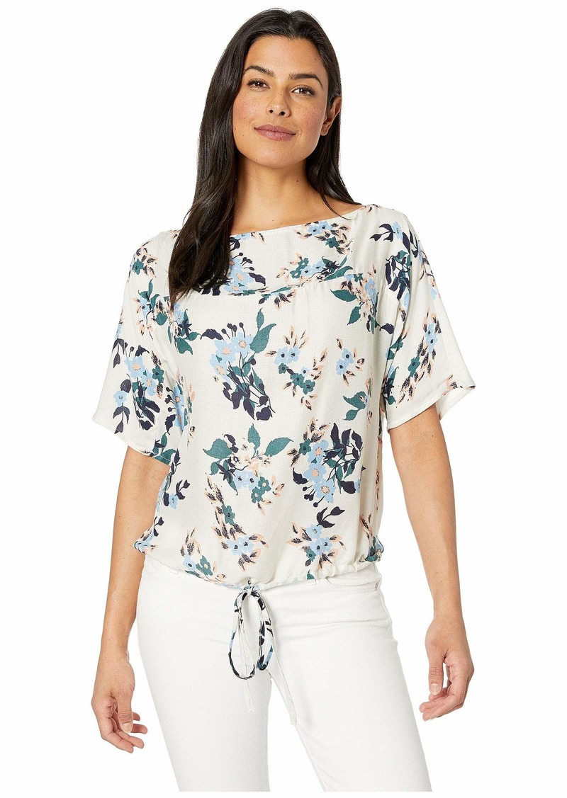Lucky Brand Floral Boat Neck Top