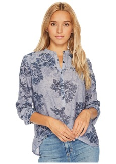 Lucky Brand Floral Chambray Top