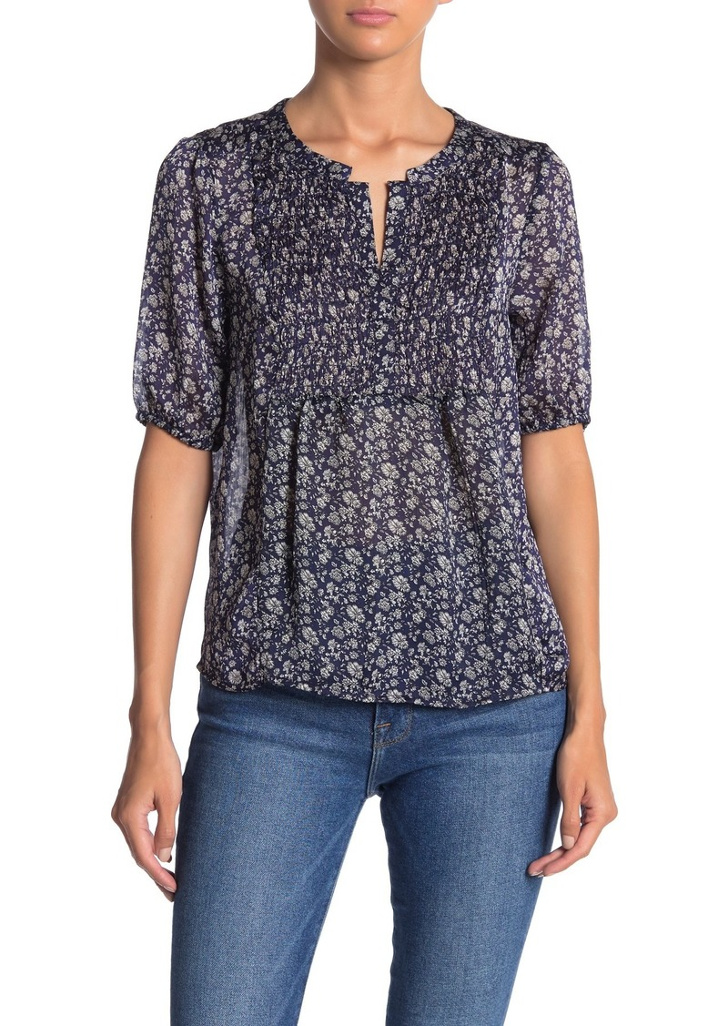Lucky Brand Floral High/Low Blouse