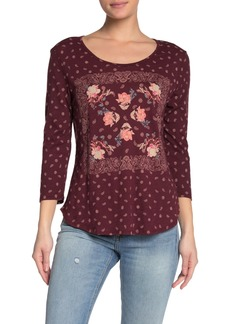Lucky Brand Floral Paisley Knit Shirt