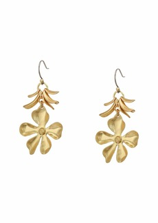 Lucky Brand Floral Petal Drop Earrings