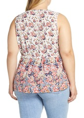 Lucky Brand Floral Romantic Top (Plus Size)