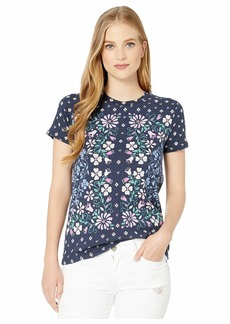 Lucky Brand Floral Scarf Print Tee