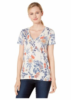 Lucky Brand Floral V-Neck Tee