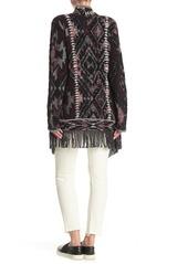 Lucky Brand Fringed Brushed Knit Cardigan
