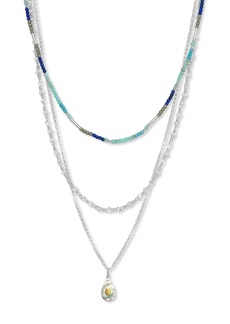 Lucky Brand Geode Layered Necklace
