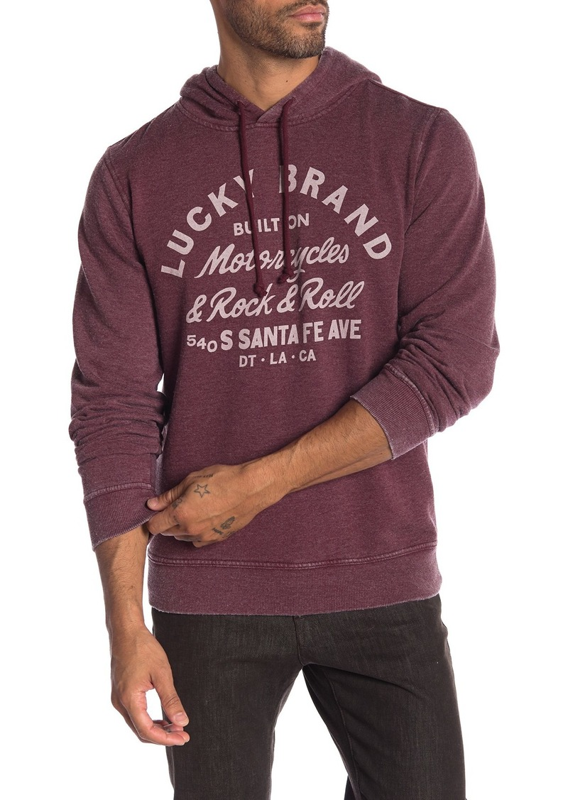 Lucky Brand Graphic Burnout Hoodie