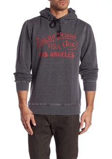 Lucky Brand Graphic Logo Fleece Hoodie