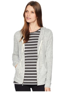 Lucky Brand Hacci Zip-Up Hoodie Sweatshirt