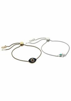 Lucky Brand Hamsa and Evil Eye Best Friends Bracelet Set