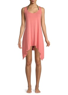 Lucky Brand Handkerchief Cover-Up Tank Dress
