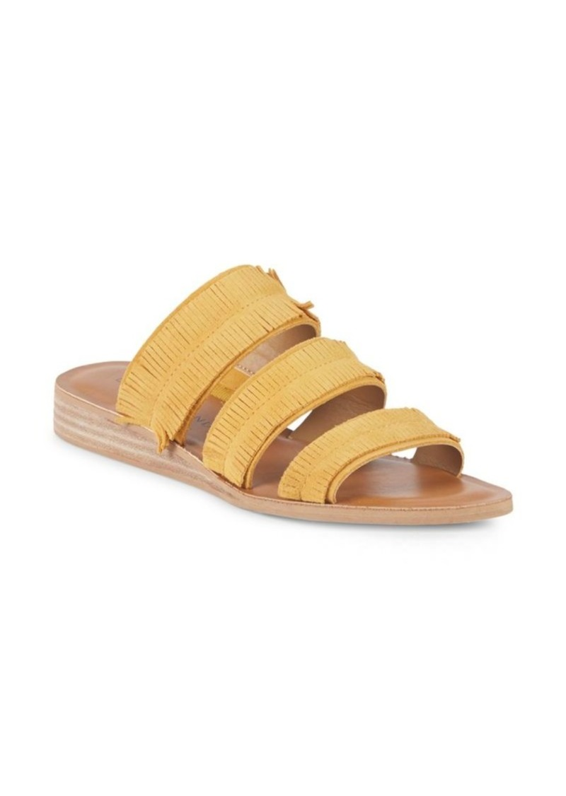 Lucky Brand Hegen Fringed Leather Slides