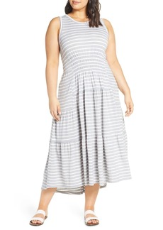 Lucky Brand High/Low Knit Maxi Dress (Plus Size)