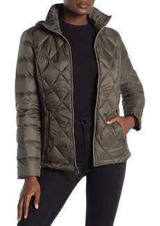 Lucky Brand Hooded Zip Front Down Jacket