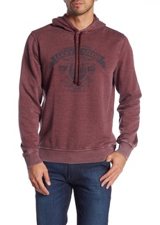 Lucky Brand Horseshoe Graphic Logo Fleece Hoodie