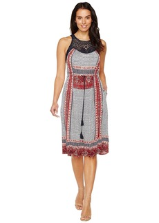Lucky Brand Knit Macrame Dress