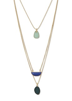 Lucky Brand Lapis Lucky Layer Necklace