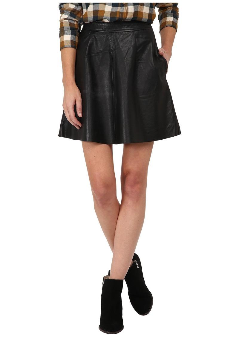 Lucky Brand Leather Flirty Skirt