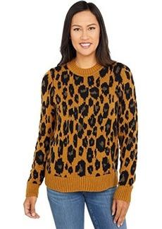 Lucky Brand Leopard Intarsia Pullover