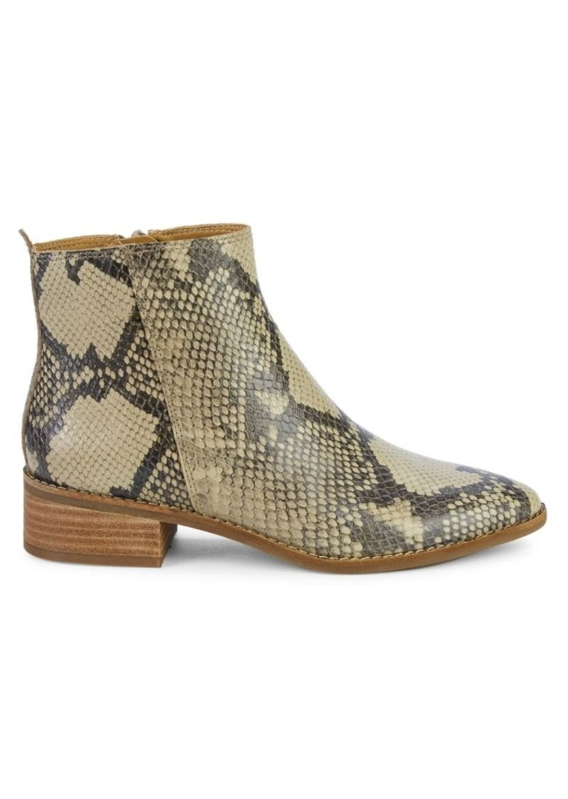 Lucky Brand Letrica Snake-Print Leather Chelsea Boots