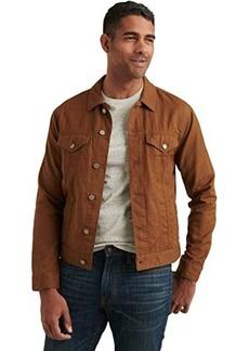 Lucky Brand Linen Blend Trucker Jacket