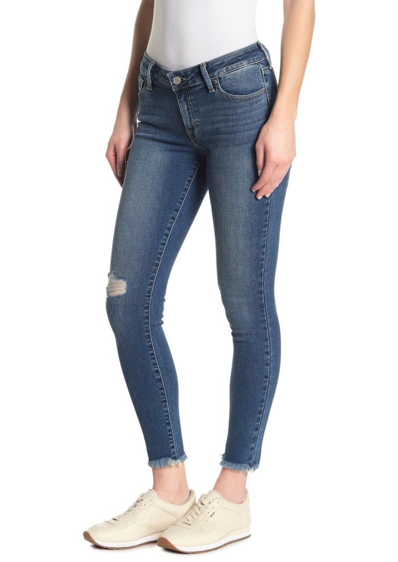Lucky Brand Lolita Distressed Fray Hem Super Skinny Jeans