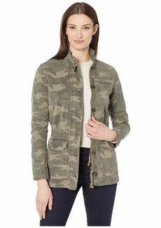 Lucky Brand Long Sleeve Button-Up Two-Pocket Camo Utility Jacket