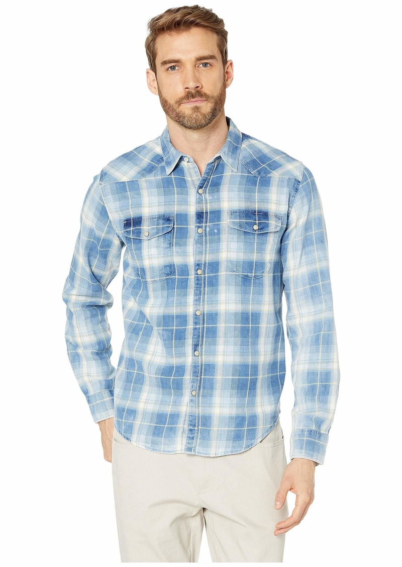Lucky Brand Long Sleeve Plaid Western Shirt