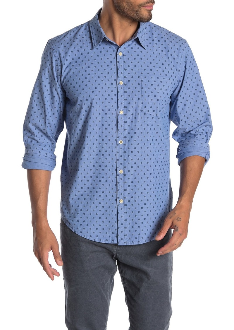 Lucky Brand Long Sleeve Print Pocket Regular Fit Shirt