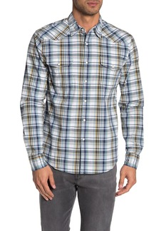 Lucky Brand Long Sleeve Santa Fe Western Stretch Button Down Shirt