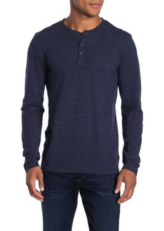 Lucky Brand Long Sleeve Textured Henley