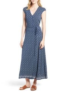 Lucky Brand Lucky Border Print Maxi Dress