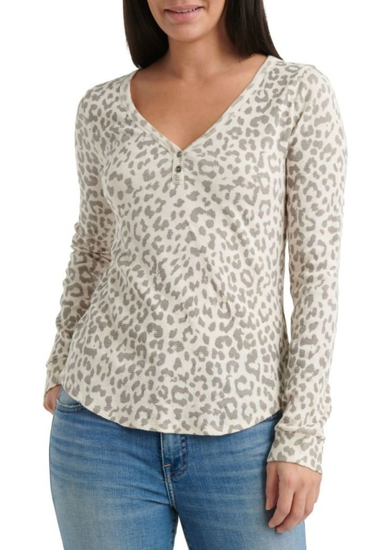 Lucky Brand Animal Printed Thermal Top