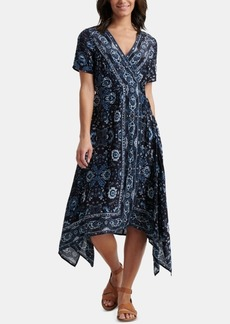 Lucky Brand Ashley Printed Wrap Dress