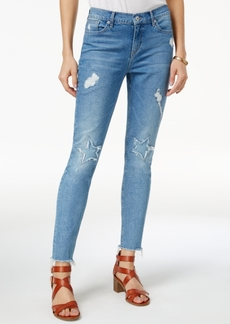 Lucky Brand Ava Distressed Star-Pattern Skinny Jeans