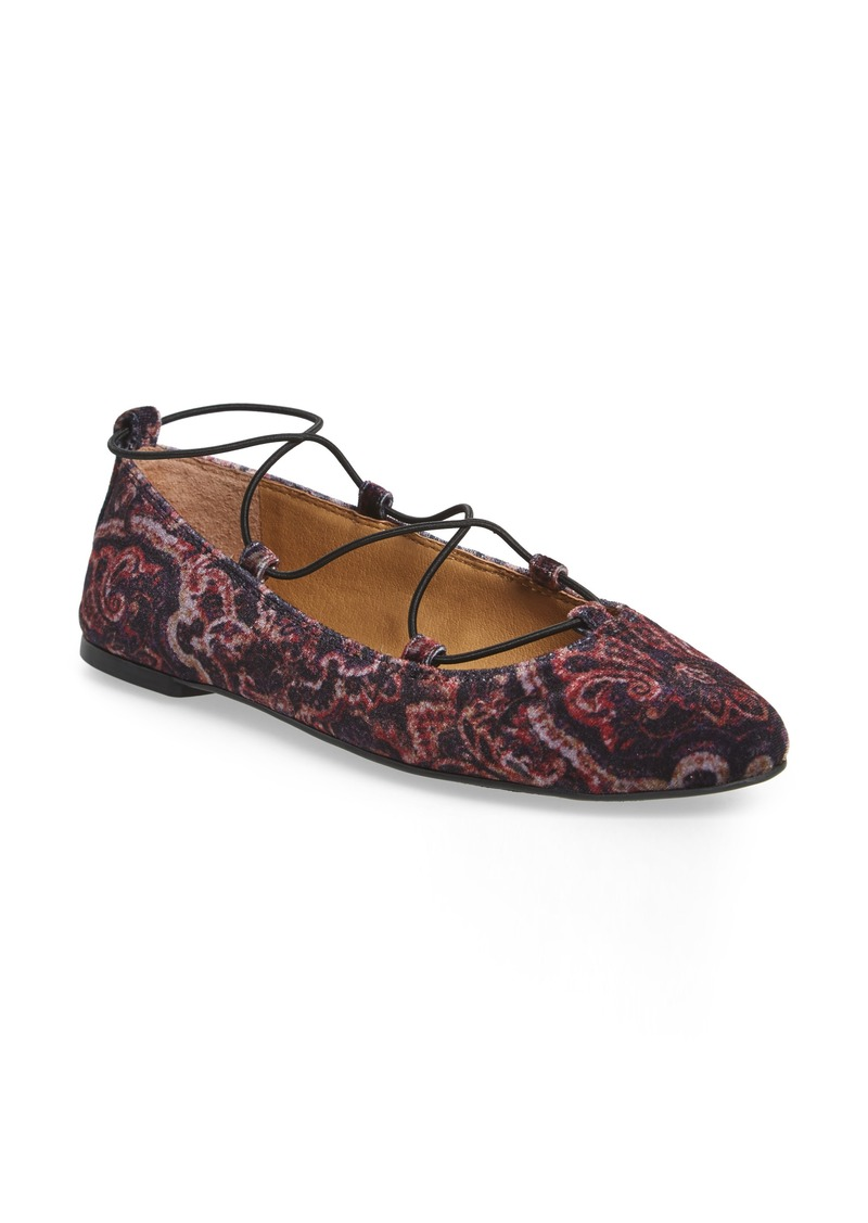 Lucky Brand 'Aviee' Lace-Up Flat (Women)