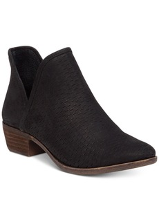 Lucky Brand Baley Perforated Chop Out Booties Women's Shoes