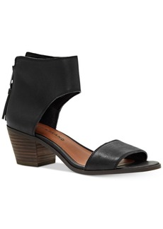 Lucky Brand Barbina Two-Piece Block-Heel Sandals Women's Shoes