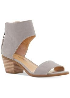 Lucky Brand Barbina Two-Piece Block-Heel Sandals Women's Shoes