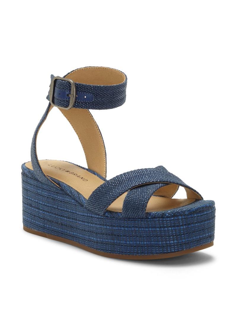 Lucky Brand Bikaro Ankle Strap Platform Sandal (Women)