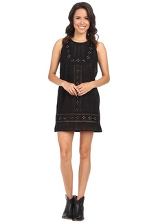 Lucky Brand Black Eyelet Dress