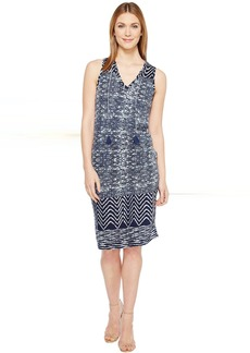 Lucky Brand Blue Batik Dress