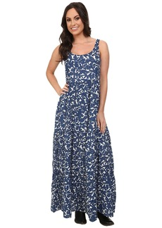 Lucky Brand Blue Vines Maxi Dress