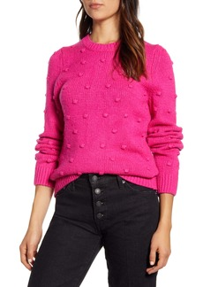 Lucky Brand Bobble Stitch Crewneck Cotton Blend Sweater