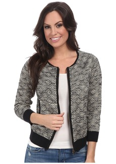 Lucky Brand Bomber Sweater Jacket